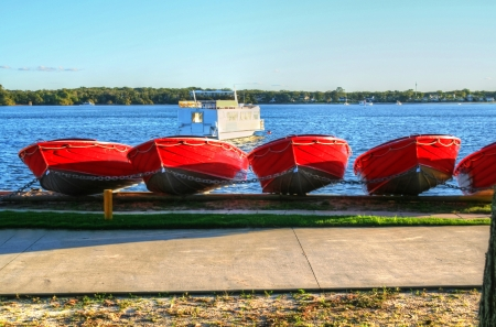 Hire boats at Bribie Island in Queensland Australia. Stock Photo - 22966889