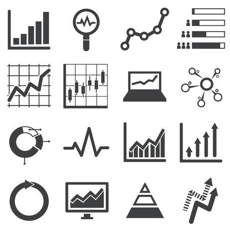 Analytics, icône, ensemble Banque d'images - 39566881