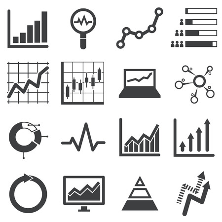 analytics: analytics icon set