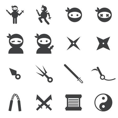ninja: ninja icon Illustration