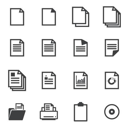 kopie: papírové ikony