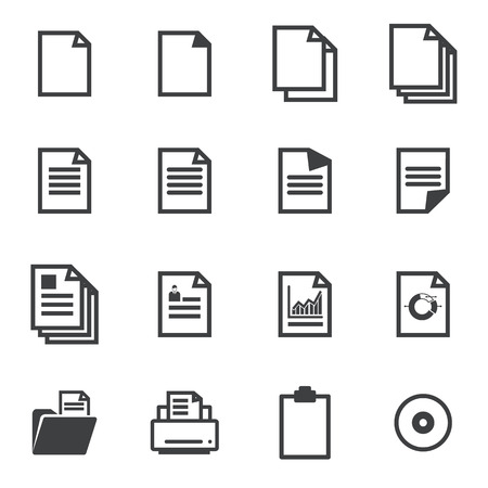 business words: paper icons