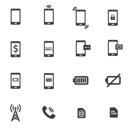 phone money: icono del tel?fono Vectores
