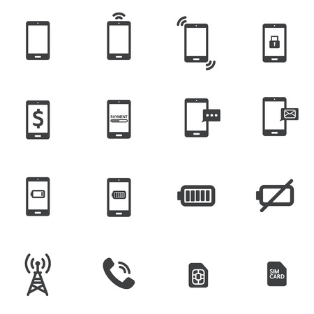 button icons: phone icon Illustration