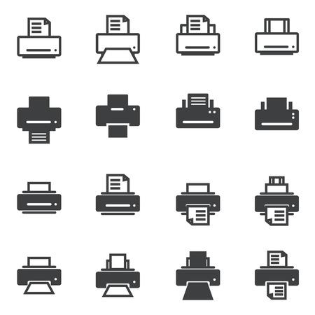 estampado: Icono de impresi�n Vectores