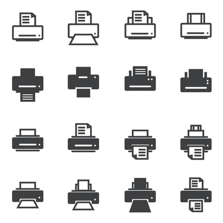 faxing: print icon Illustration