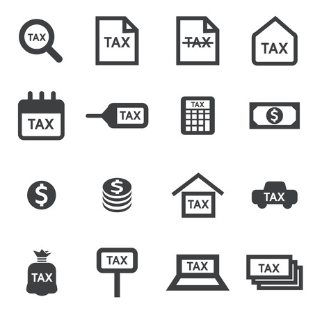 tax time: tax icon Illustration