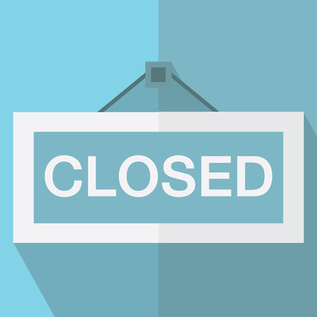 hanging sign: closed hanging sign