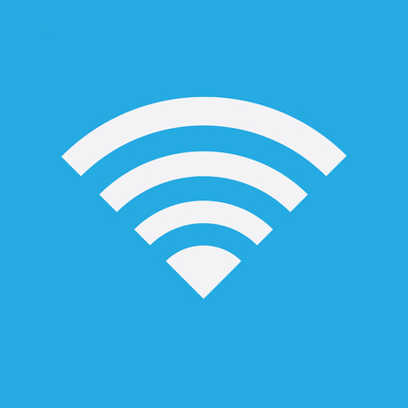 internet symbol: Wireless Network Symbol of wifi icon, vector illustration. Illustration