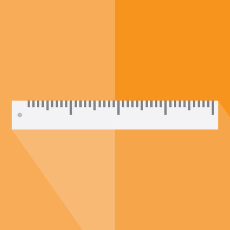 contracting: The ruler icon. Ruler symbol. Flat. Vector illustration.