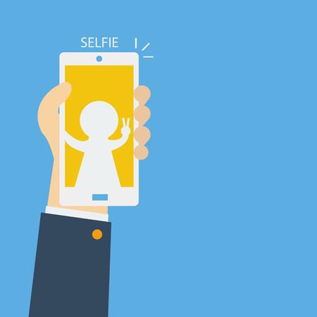 take: Businessman Take Selfie