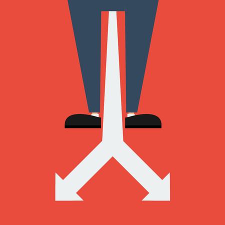 crossroad: Confundido, de pie en la encrucijada Vectores