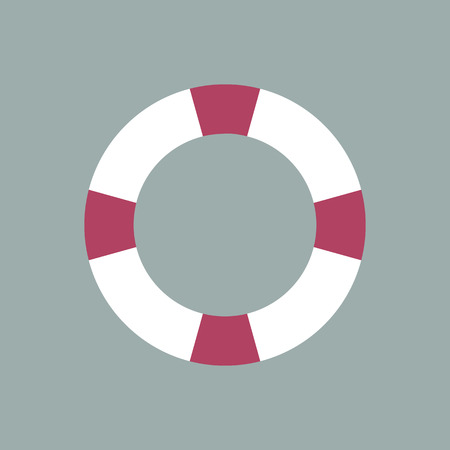 sea disaster: Safety ring icon, vector Illustration