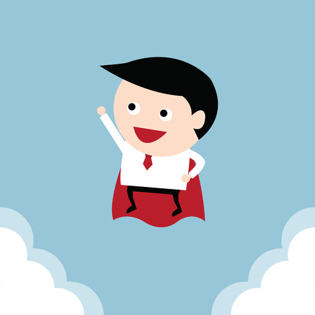 redemption: Businessman flying, vector Illustration