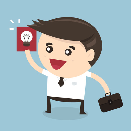 person thinking: Businessman showing he has an idea Illustration