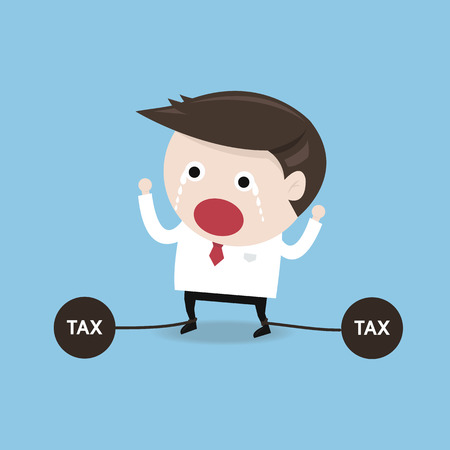 stress ball: tax problems, flat design