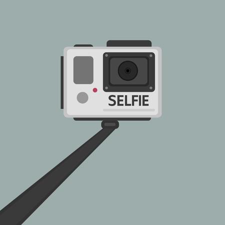 handle: handle selfie, flat design