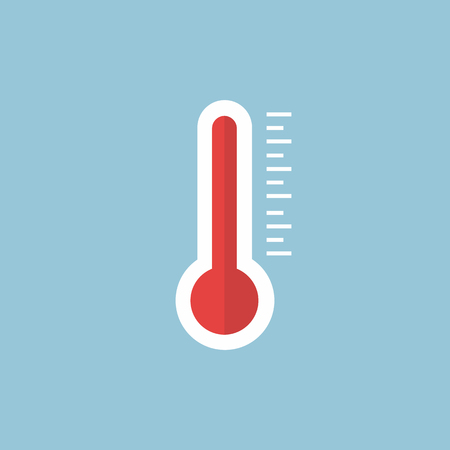 Thermometer icon , Flat design style, vector illustration. long shadow icon.