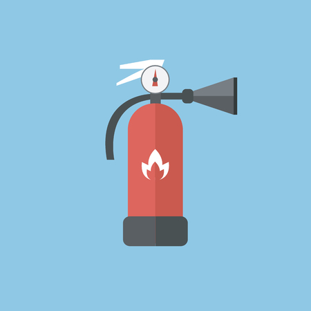 firefighting: Fire extinguisher sign icon. Fire safety symbol. vector EPS10.