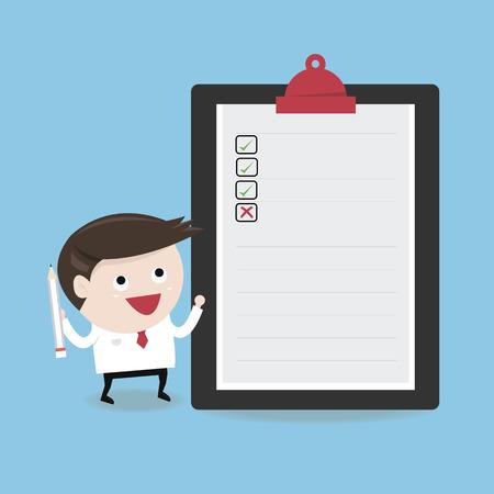 checklist: Businessman Checklist, flat design