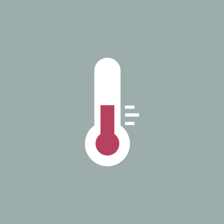 termometer: Thermometer icon , Flat design style, vector illustration