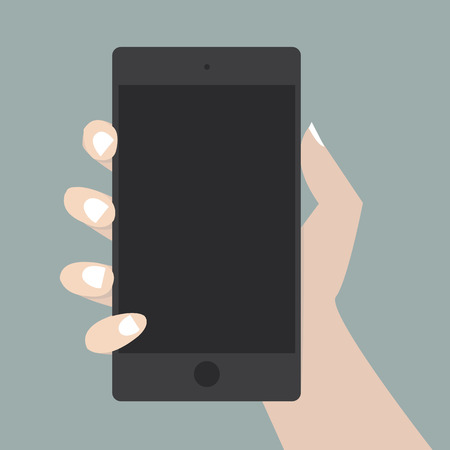 smartphone in hand: Hand with Smart Phone