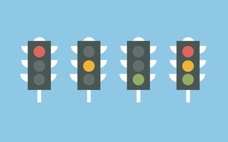 Traffic lights icon vector Illustration