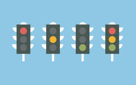 light colors: Traffic lights icon vector Illustration