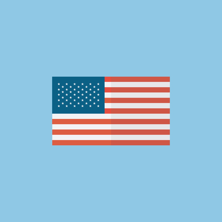 flag icons: american flag, vector