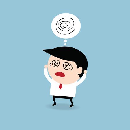 confundido: Empresario confundirse, dise�o plano