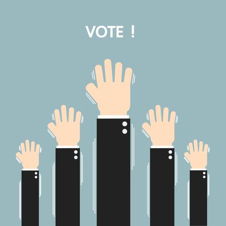 electors: Voting elections, flat design, vector