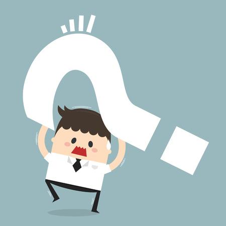 dilemma: Dilemma of businessman, flat design, business concept