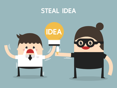 steal: Steal idea, flat design, business concept