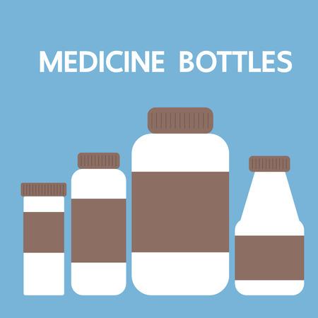 group therapy: medicine bottles, vector illustration Illustration