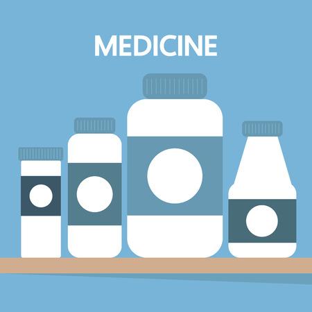 medicine bottles: Medicine bottles, vector illustration