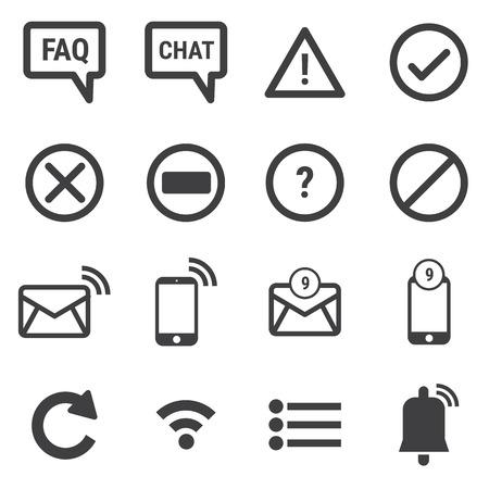 notification: notification icons Illustration