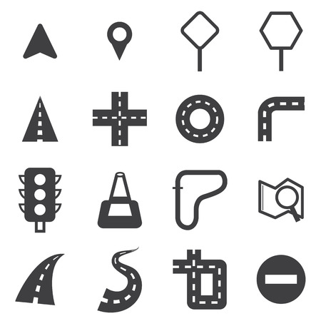 road: Vector road icon set