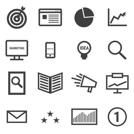 web store: Marketing icons. Illustration