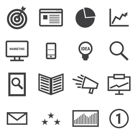 Marketing icons. Illustration