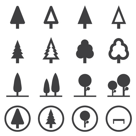 application recycle: tree vector icons set Illustration