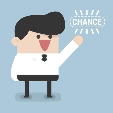 Businessman chance