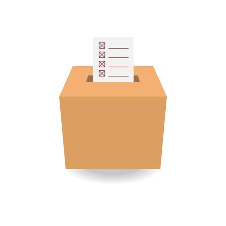 voter registration: ballot box vote,vector