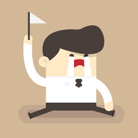 Businessman surrender Ilustração