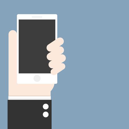 smart phone hand: smart phone in hand