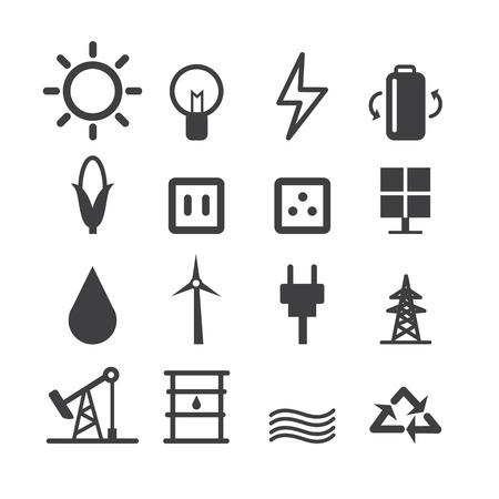 atomic energy: Energy icon set