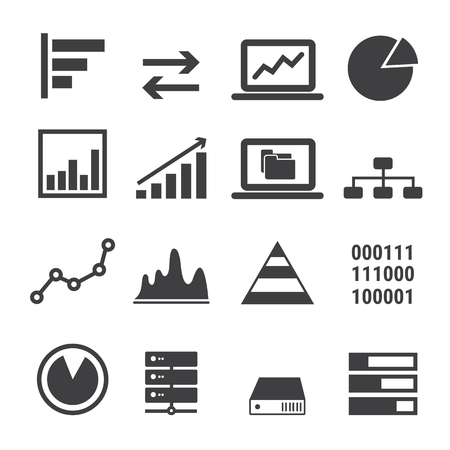 business abstract: data icon set
