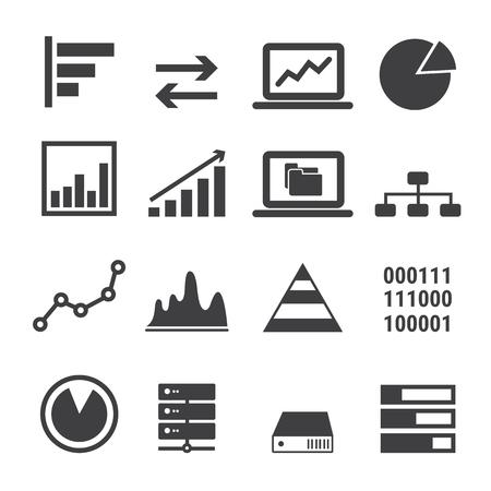 gestion empresarial: icono de datos conjunto Vectores