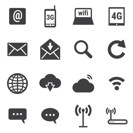 internet icons: Internet icons set Illustration