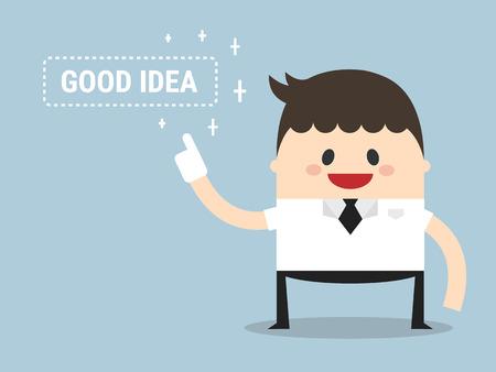 good idea: Businessman Get Good Idea