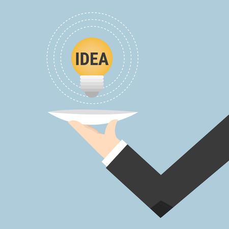 waiter: Serving idea light bulb